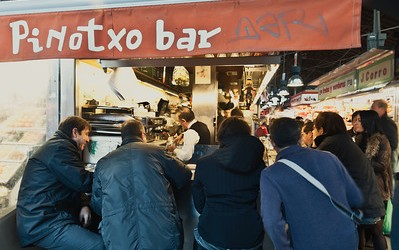 {Spain} Best Tapas at Pinotxo Bar in La Boqueria, Barcelona